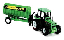 Country Life Tractor with Rotaspreader Trailer Implements 1:32 Scale NEWRAY MIB