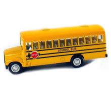"""School Bus with Pull Back Action 5"""" Diecast  Approximate 1:43 Scale FREE SHIPPING"""