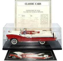 DANBURY MINT 1956 Ford Sunliner Convertible Diecast 1:24 Scale w/ Display