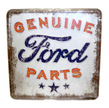 Metal - Tin Sign 3-D Embossed Genuine Ford Parts Garage - Man Cave Sign