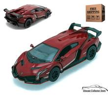 Lamborghini Veneno KINSMART Diecast 1:36 Scale Burgundy FREE SHIPPING