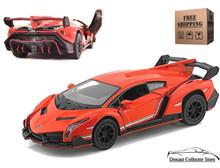 Lamborghini Veneno KINSMART Diecast 1:36 Scale Orange FREE SHIPPING
