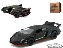 Lamborghini Veneno KINSMART Diecast 1:36 Scale Matte Black FREE SHIPPING