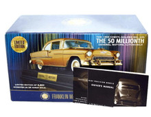 FRANKLIN MINT 1955 Chevrolet Bel Air 24krt GOLD LE #0551 Diecast 1:24 Scale