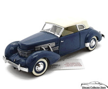 FRANKLIN MINT 1937 Cord 812 Phaeton Limited Edition 948/1,000 Diecast 1:24 Scale