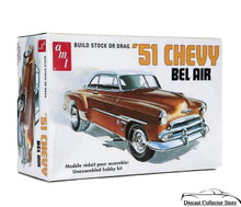 1951 Chevy Bel Air AMT Model Kit 1:25 Scale Build Stock or Drag Sealed
