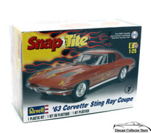 1963 Chevrolet Corvette Stingray Ray Revell RMX Snap Tite Model Kit 1:25 No Glue