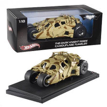 The Dark Knight Rises Batman Batmobile Tumbler HOT WHEELS Diecast 1:18 Camouflage