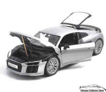 Audi R8 V10 Plus MAISTO SPECIAL EDITION Diecast 1:18 Scale Silver