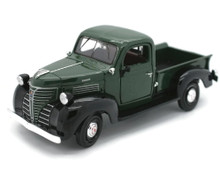 1941 Plymouth Pickup Truck MOTORMAX Diecast 1:24 Scale Green & Black