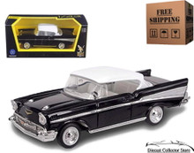 1957 Chevrolet Bel Air ROAD SIGNATURE Diecast 1:43 Black & White FREE SHIPPING