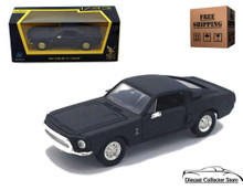 1968 Shelby Mustang GT 500KR ROAD SIGNATURE Diecast 1:43 Matte Black FREE SHIPPING
