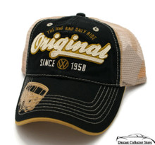 HAT - VW Volkswagon Mess Embroidered Vented Trucker Style Ball Cap FREE SHIPPING