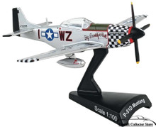 "P-51D Mustang USAAF ""Big Beautiful Doll"" Daron Diecast 1:100 Scale Model FREE SHIPPING"
