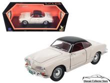 1966 Volkswagon Karmoann-Ghia ROAD SIGNATURE Diecast 1:18 Scale White