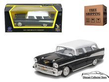 1957 Chevrolet Nomad ROAD SIGNATURE Diecast 1:43 Scale Black/White FREE SHIPPING
