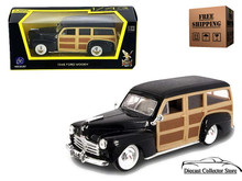 1948 Ford Woody ROAD SIGNATURE Diecast 1:43 Scale Black FREE SHIPPING