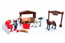 Country Life Horse Riding Academy Play Set Newray FREE SHIPPING