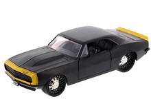 1967 Chevy Chevrolet Camaro JADA BIG TIME MUSCLE Diecast 1:24 Scale Matte Black