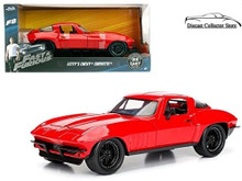 Letty's 1966 Chevy Corvette FAST & FURIOUS Diecast 1:24 Scale Red 98298