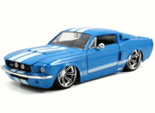 1967 Ford Shelby GT-500 Mustang  JADA BIGTIME MUSCLE Diecast 1:24 Scale Blue 97401