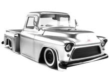 1955 Chevy Stepside Pickup w/ Extra Wheels JADA JUST TRUCKS Diecast 1:24 Scale Silver 97230