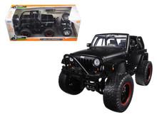 2007 Jeep Wranger w/ Extra Wheels JADA JUST TRUCKS Diecast 1:24 Scale Matte Back 97689