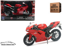 DUCATI 1198 Motorcycle NEWRAY Diecast 1:12 Scale Red FREE SHIPPING