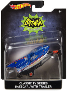 Classic TV Series BATBOAT with TRAILER Hot Wheels Diecast 1:50 Scale FREE SHIPPING