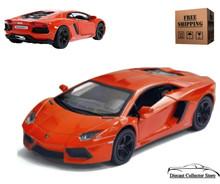 Lamborghini Aventador LP700-4 KINSMART Diecast 1:38 Scale Orange FREE SHIPPING