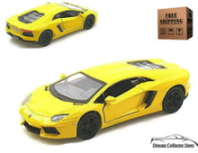 Lamborghini Aventador LP700-4 KINSMART Diecast 1:38 Scale Yellow FREE SHIPPING