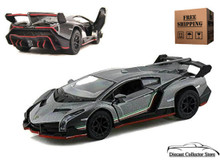 Lamborghini Veneno KINSMART Diecast 1:36 Scale Dark Grey FREE SHIPPING