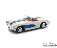 1957 Chevrolet Corvette NEWRAY Diecast 1:43 Scale White/Blue