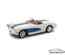 1957 Chevrolet Corvette NEWRAY Diecast 1:43 Scale White/Blue