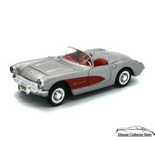 1957 Chevrolet Corvette NEWRAY Diecast 1:43 Scale Silver & Red