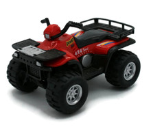 "4x4 Sport Quad Runner Diecast 4 1/4"" Model Red FREE SHIPPING"