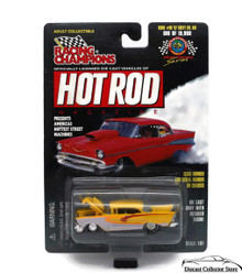 1957 Chevy Bel Air RACING CHAMPIONS HOT ROD MAGAZINE Diecast 1:63 FREE SHIPPING