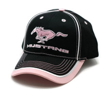 HAT - Ford Mustang Embroiderd Adjustable Ball Cap Hat Pink & Black FREE SHIPPING
