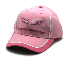 Hat - Chevrolet Corvette Pink Embroidered Ball Cap FREE SHIPPING