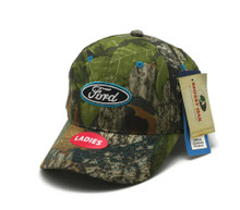 Hat - Ford LADIES Mossy Oak Camouflage Ball Cap Embroidered FREE SHIPPING