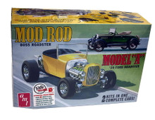 1929 Ford Model A Roadster AMT 1:25 Scale 2 n' 1 Model Car Kit Mod Rod