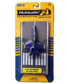 RUNWAY24 USN Blue Angels F/A-18 DARON Diecast Plane with Runway FREE SHIPPING