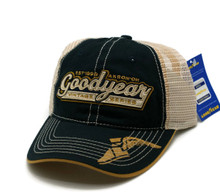 HAT - Goodyear Mess Embroidered Vented Trucker Style Ball Cap FREE SHIPPING