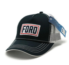Hat - Ford Structured Mesh  Adjustable Ball Cap Black & White FREE SHIPPING