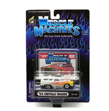 1965 Chevy Chevelle Wagon MUSCLE MACHINES Diecast 1:64 Scale White FREE SHIPPING