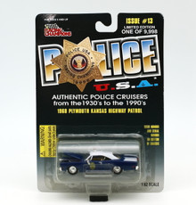 1968 Plymouth Kansas Hwy Patrol POLICE USA LE Diecast 1:62 Scale FREE SHIPPING
