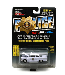1956 Ford Victoria Colorado State Police POLICE USA Issue #1 Diecast 1:60 FREE SHIPPING