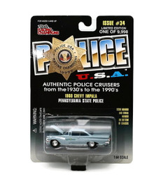 1960 Chevy Impala Pennsylvania State Police POLICE USA Issue #34 Diecast 1:64 FREE SHIPPING