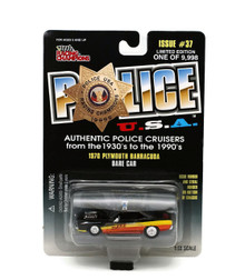 1970 Plymouth Barracuda DARE CAR POLICE USA LE Diecast 1:59 Scale FREE SHIPPING