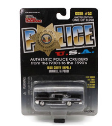 1958 Chevy Impala Grinnell IA Police POLICE USA Issue #53 Diecast 1:64 FREE SHIPPING